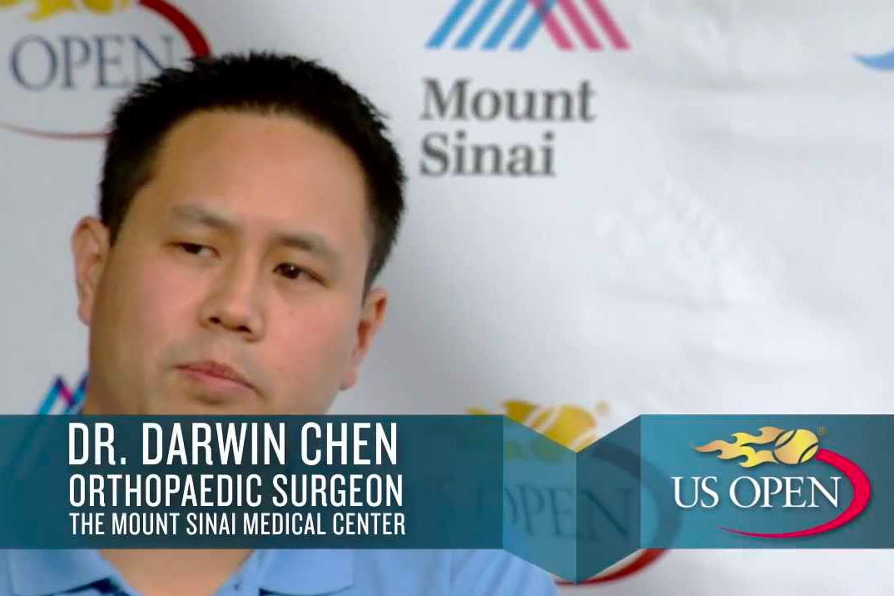 Dr. Chen Talks Hip and Knee Replacements at the US Open