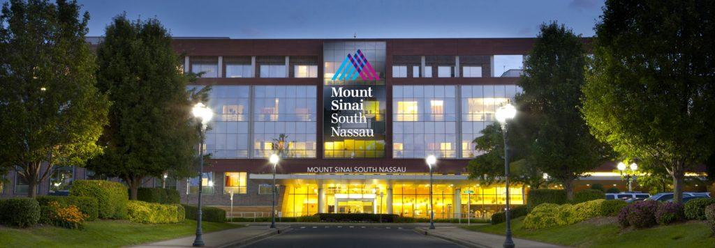 Mount Sinai Logo and image of hospital